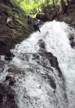 ⑩滝芯を登ってみる。快適!!