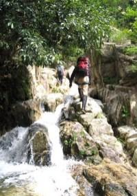 美しい小滝の連続