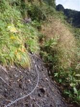 11‐草つきの長いトラバース、かなり厳しい斜度。