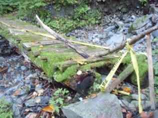 33‐すっかり朽ちて使用不可能な橋