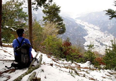 2009年2月22日 自主山行  京塚山(美濃・郡上八幡)