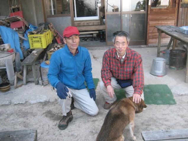 藤内小屋で記念写真