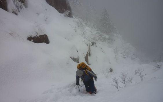 2011年1月8日 自主山行 御在所岳 本谷~藤内沢3ルンゼ