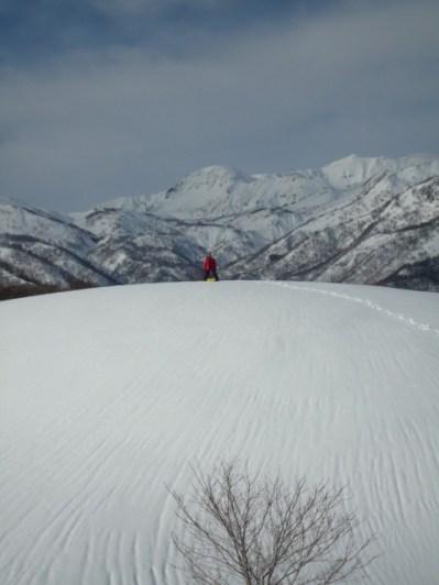 18一番高い丘の上から滑ります