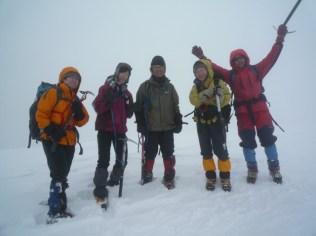 33山頂に着いたとたんホワイトアウト
