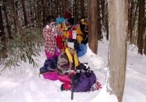 04雪の中の小休止