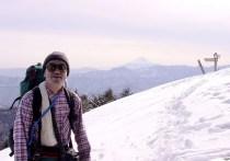 17 山頂にて。