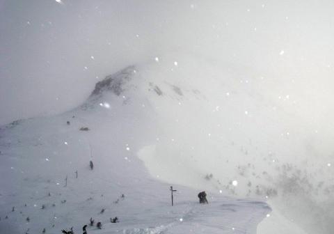 2008年2月9日硫黄岳(南八ヶ岳)