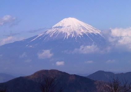 12見事に富士山が見えた。