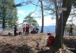 展望広場。吉田山キャンプ場の看板あり