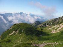 笠ヶ岳の美しい稜線