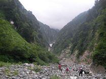 下山途中の滝谷