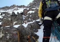 05 主稜の岩場
