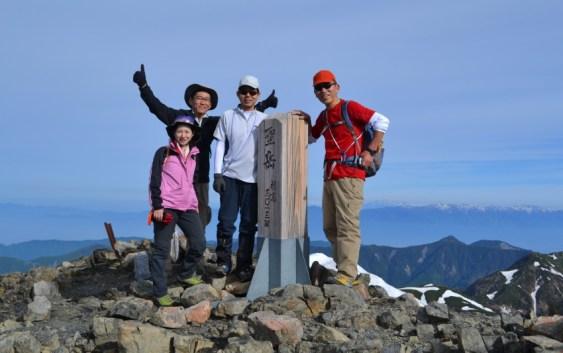 2013年6月8日〜9日 聖岳(3,013m)- 自主山行