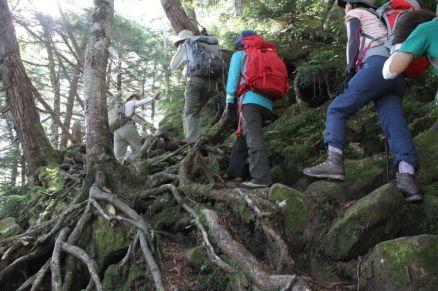 07 横岳への登り
