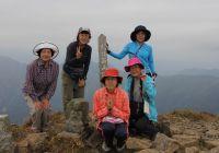 朝日岳と袈裟丸山(谷川山系、足尾山系)