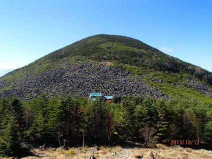丸い編笠山