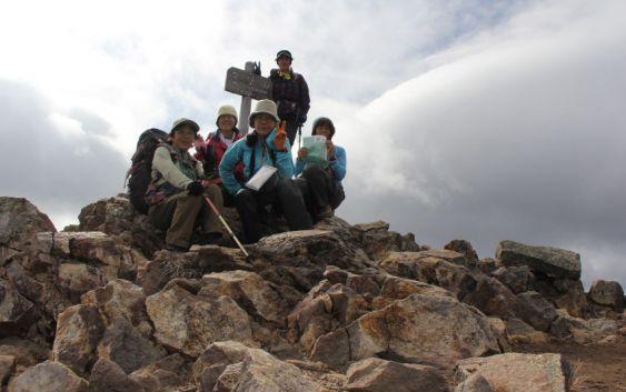 女峰山(2483m)・太郎山(2367m) 2013年11月3~4日(栃木県日光市)