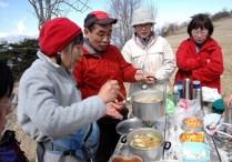 谷口さんの手前味噌で、味噌うどんを作ったよ