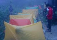 富士見台高原 ツェルトビバーク訓練