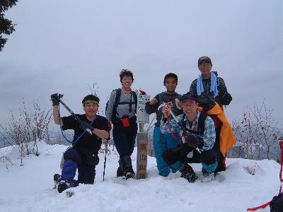 2003年1月 定例山行 A班 蕪山(美濃)
