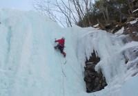 八ヶ岳南沢大滝アイスクライミング