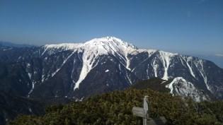 昨日登った仙丈ヶ岳