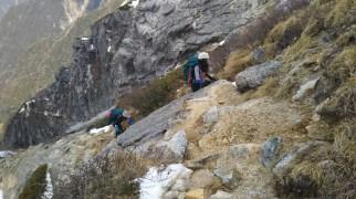 最後のひと登りは岩稜帯