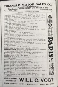 """The (c) in this listing for Dreamland Park in the 1921 Springfield city directory indicates the park was owned by an African-American -- """"colored"""" person. (SVC)"""
