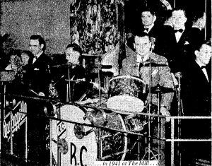 Ray Cappella at the drums with his combo at The Mill, 1941 (Courtesy State Journal-Register)
