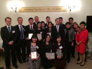 Claire Chewapreecha (front row, far left) received an Anglo-Thai Society Education Award for Medical Science in recognition of her work on Streptococcus pneumoniae earlier this month.