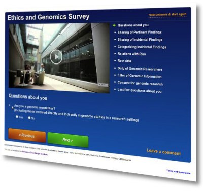 The DDD ethics team used an online survey to gather people's views from around the world