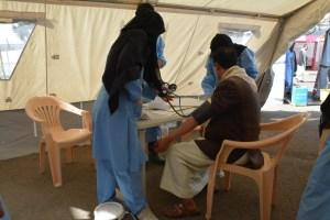 MSF cholera treatment center in Al-Kuwait hospital, Sana'a, Yemen