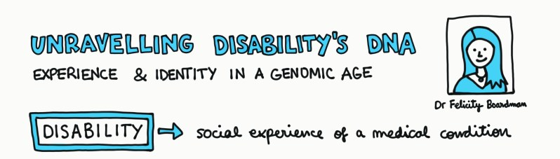 [Illustration] Unravelling Disability's DNA Experience and Identity in a Genomic Age. Image credit: Laura Olivares Boldú
