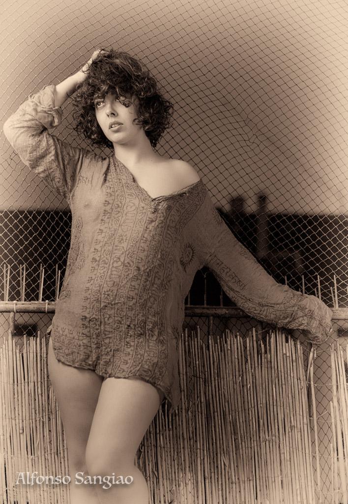 Inés Recher sesión de fotos boudoir  con la Canon 6d con la