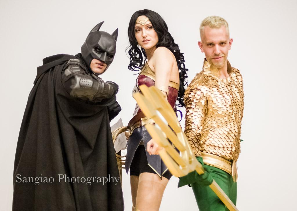 Cosplayers de La liga de la justicia
