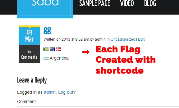 How To Enable Country Flag Shortcode Icons In Your WordPress Site ?