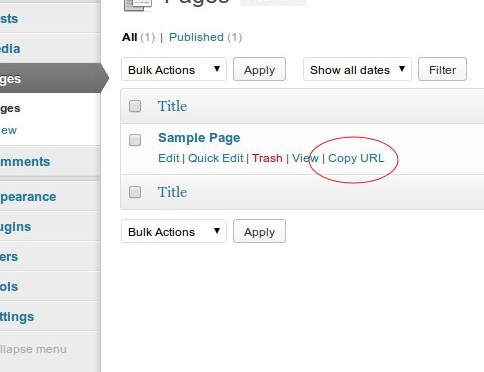 Easily Add A Copy URL Button For Quickly Copying Posts & Pages Permalinks In WordPress