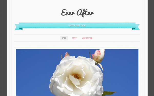 Ever After: New WordPress Single Column Responsive Wedding Centric Theme From Automattic