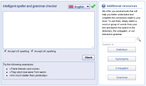 Reverso Grammer and Spelling Checker