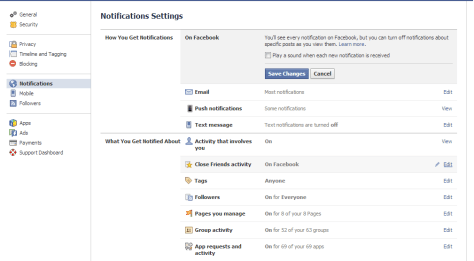 Turn Off Facebook Sound Notifications