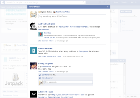 Use Hashtag In Facebook