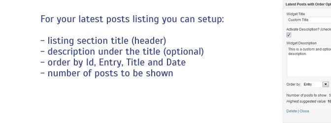How To List Your Latest Blog Posts In Custom Order In WordPress ?