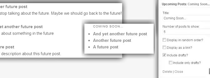 How To Display A List Of Upcoming Blog Posts In WordPress ?