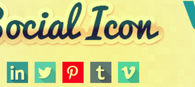 Sticky Container Of Social Media Icons In Your Favorite Colors For WordPress