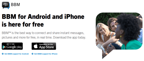 BBM Is Now Available For Android & iPhone iOS Users For Free