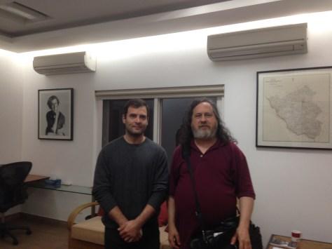 Rahul Gandhi with legendary RMS