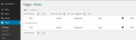 Page Tags & Categories