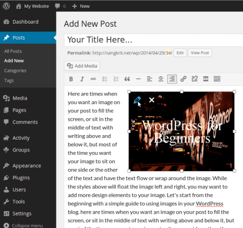 How To Wrap Text Around Images In WordPress? 2
