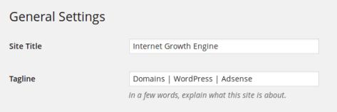 Website Name & Tagline